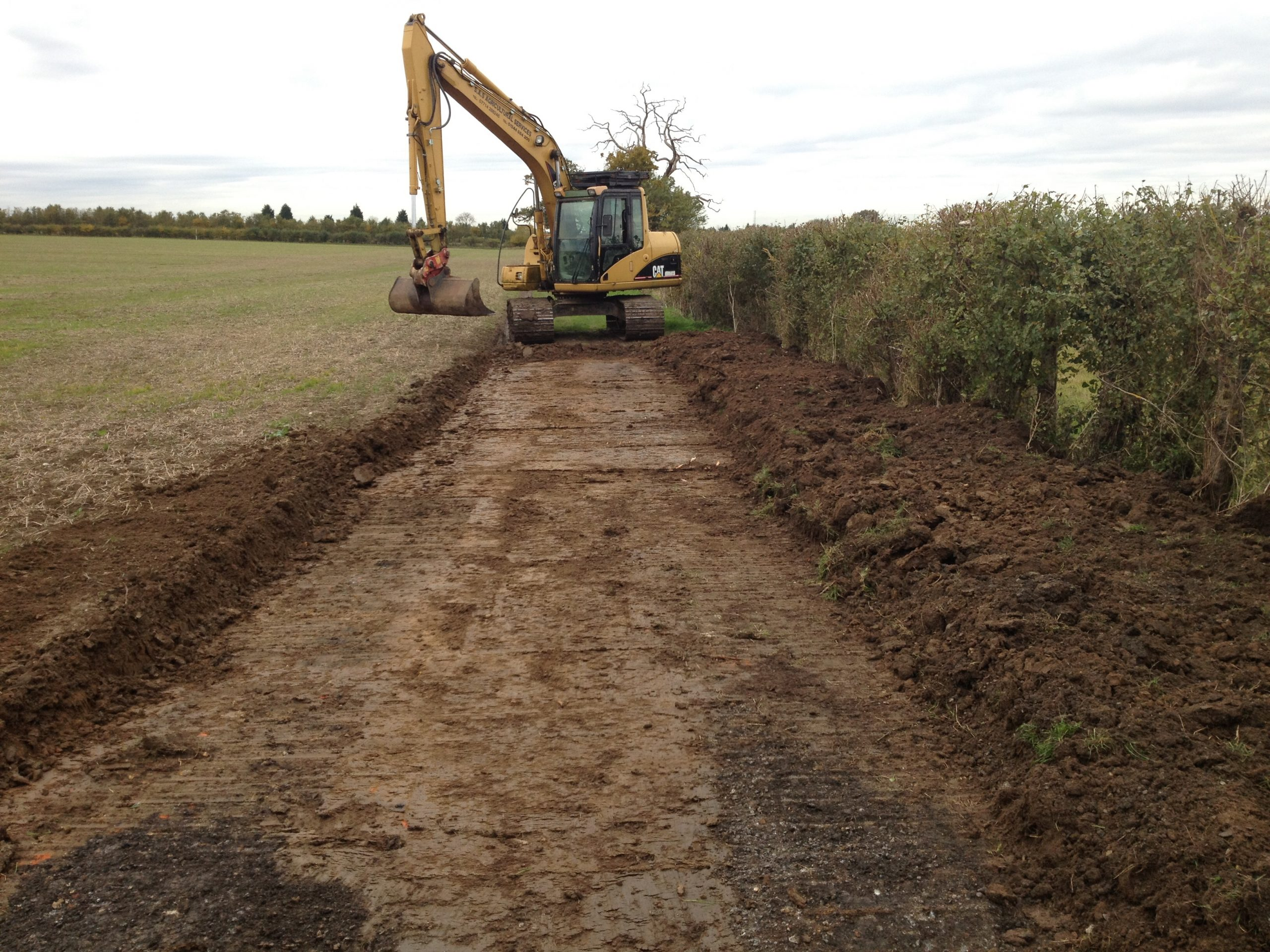 Agricultural excavation for farm track