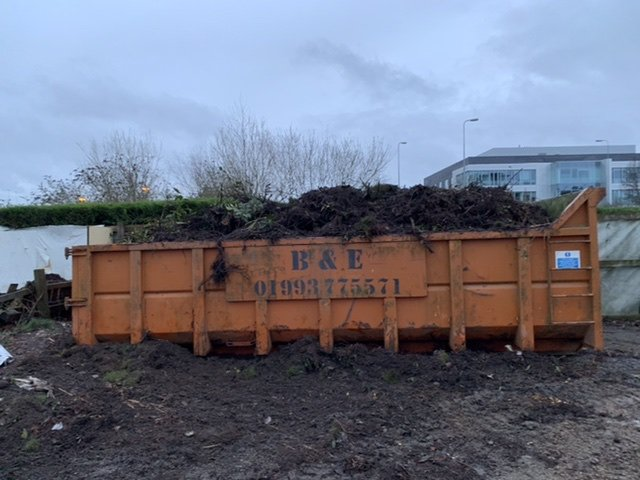 Full skip after shrub bed removal