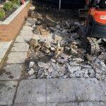 Excavator digging foundations for Groundworks