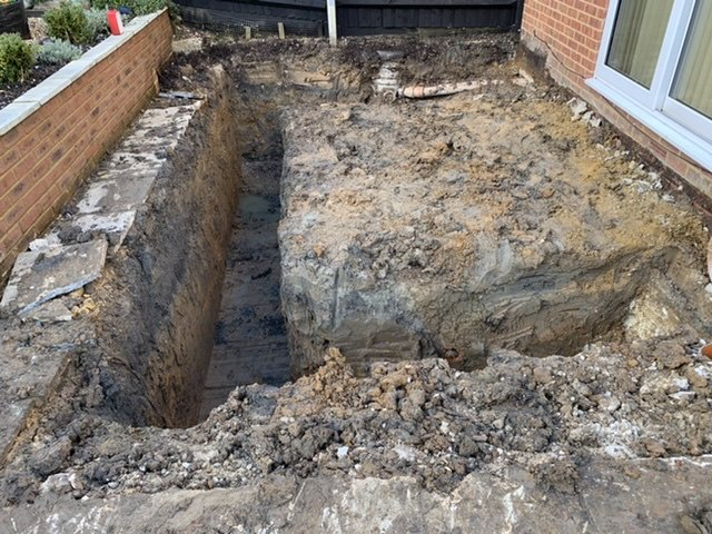 Finished footings ready for concrete