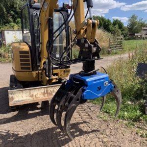 Excavator Grapple hire