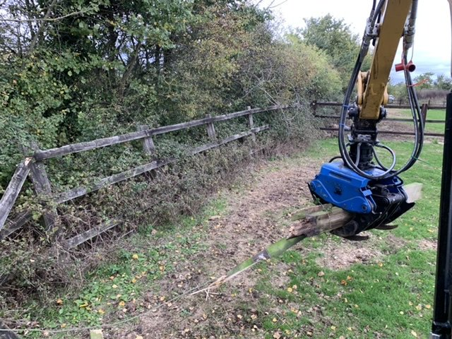 Fence line clearance and fence replacement.